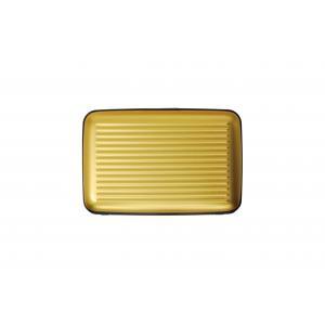 Ogon Designs Porta carte di credito Serie Classica AL 5A Gold Realizzato in allumino, si distingue per leggerezza e ridotte dimensioni. Contiene fino a 7 carte di credito.