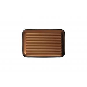 Ogon Designs Porta carte di credito Serie Classica AL 5A Cioccolato Realizzato in allumino, si distingue per leggerezza e ridotte dimensioni. Contiene fino a 7 carte di credito.