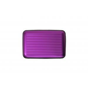 Ogon Designs Porta carte di credito Serie Classica AL 5A Purple Realizzato in allumino, si distingue per leggerezza e ridotte dimensioni. Contiene fino a 7 carte di credito.