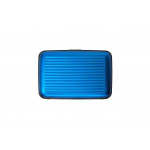 Ogon Designs Porta carte di credito Serie Classica AL 5A Blue Realizzato in allumino, si distingue per leggerezza e ridotte dimensioni. Contiene fino a 7 carte di credito.