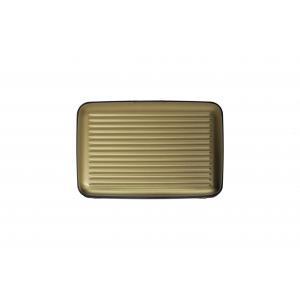 Ogon Designs Porta carte di credito Serie Classica AL 5A Grey Realizzato in allumino, si distingue per leggerezza e ridotte dimensioni. Contiene fino a 7 carte di credito.