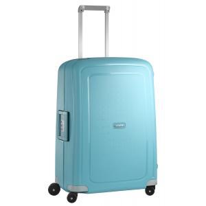 Samsonite Trolley rigidi SCure 10U 001 Acqua Blue Realizzata in polipropilene Fermabiti interni Chiusura a combinazione TSA 4 Ruote gemellate
