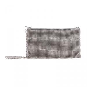 Scheilan Borse Maglia metallo Maglia metallo SH348 X Argento Realizzata in maglia di metallo e strass Chiusura con cerniera lampo Tracolla in metallo