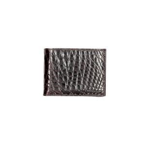 Sani Gualtiero Portafogli Uomo Coccodrillo Sani 4344236 Testa Moro Realizzato in pelle di coccodrillo 8 carte di credito Doppio scomparto per banconote Tasca porta monete chiusa con patta