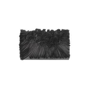 Scheilan Borse Raso Raso BT530 Nero A Realizzata in raso Chiusura a patta  Lavorazione a pliss� Tracolla in metallo