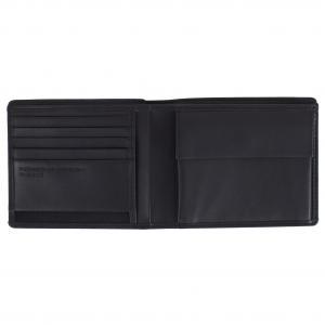 Porsche Design Portafogli Uomo CL2 409 214 Black Realizzato in pelle Tasca porta monete Tasche porta documenti 5 carte di credito Scomparto banconote doppie