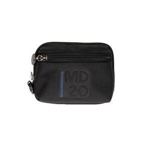 Mandarina Duck Trousse da borsa MD20 16 MM4 Black Realizzato in tessuto Tasca anteriore Passante posteriore per portata a cintura