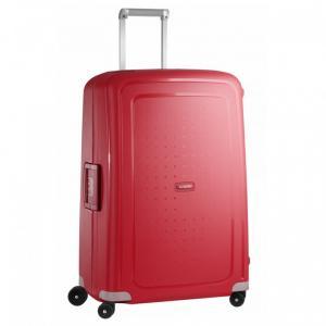 Samsonite Trolley rigidi SCure 10U 001 Crimson Red Realizzata in polipropilene Fermabiti interni Chiusura a combinazione TSA 4 Ruote gemellate