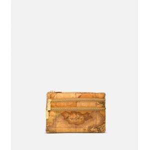 I Classe Trousse da borsa Continuativo C 6000 M019 Natural 0010 Realizzato col classico tessuto stampa cartina geografica che caratterizza tutta la gamma Alviero Martini 3 scomparti Chiusura con lampo