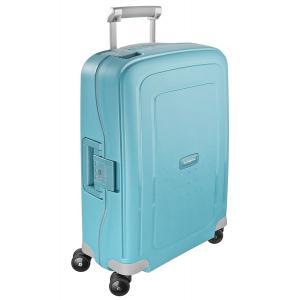 Samsonite Trolley rigidi SCure 10U 003 Acqua Blue Realizzata in polipropilene Fermabiti interni Chiusura a combinazione TSA 4 Ruote gemellate
