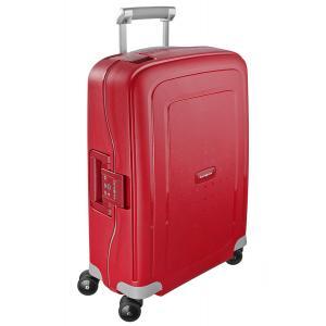 Samsonite Trolley rigidi SCure 10U 003 Crimson Red Realizzata in polipropilene Fermabiti interni Chiusura a combinazione TSA 4 Ruote gemellate