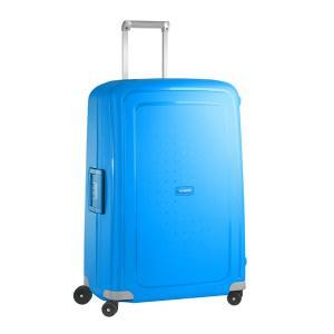 Samsonite Trolley rigidi SCure 10U 002 Pacific Blue Realizzata in polipropilene Fermabiti interni Chiusura a combinazione TSA 4 Ruote gemellate