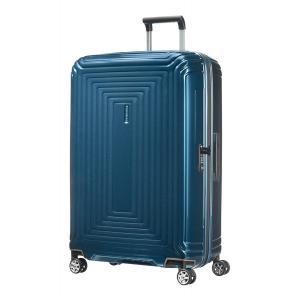 Samsonite Trolley rigidi Neopulse 44D 003 Metallic Blue Realizzata in policarbonato Chiusura con zip Combinazione di sicurezza TSA 4 ruote gemellate Federa interna Tasca interna Separatore interno