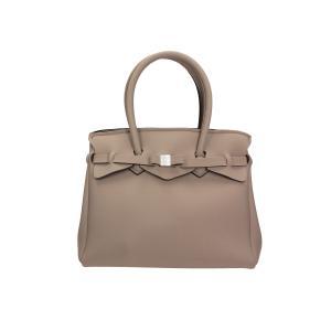 Save My Bag Borse Miss 102 04N Fango Realizzata in Poly-Fabric con Lycra Chiusa con automatico Doppio manico