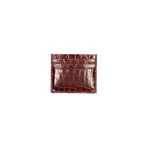 Sani Gualtiero Porta carte di credito Coccodrillo Coccodrillo 4344230 Marrone Realizzato in pelle di coccodrillo 6 carte di credito