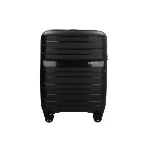 American Tourister Trolley cabina rigida per Compagnie low cost Sun Side 51G 001 Black Realizzata in poliestere Doppia tasca anteriore  Tasca interiore Espandibile Chiusura a combinazione TSA