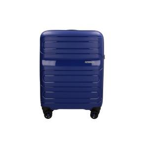 American Tourister Trolley cabina rigida per Compagnie low cost Sun Side 51G 001 Blue Realizzata in poliestere Doppia tasca anteriore  Tasca interiore Espandibile Chiusura a combinazione TSA