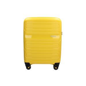 American Tourister Trolley cabina rigida per Compagnie low cost Sun Side 51G 001 Giallo Realizzata in poliestere Doppia tasca anteriore  Tasca interiore Espandibile Chiusura a combinazione TSA
