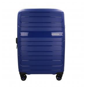American Tourister Trolley rigidi Sun Side 51G 003 Blue Realizzata in poliestere Doppia tasca anteriore  Tasca interiore Espandibile Chiusura a combinazione TSA