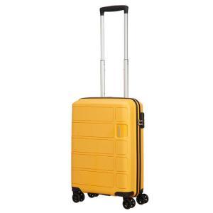 American Tourister Trolley cabina rigida per Compagnie low cost Summer Splash 62G 905 Honey Yellow Realizzata in 100% polipropilene Chiusura a combinazione TSA Divisorio interno  Cinghie fermabiti nelle parti superiori ed inferiori 4 ruote multidirezionali