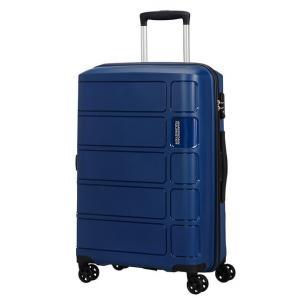 American Tourister Trolley rigidi Summer Splash 62G 903 Midnight Blue Realizzata in 100% polipropilene Chiusura a combinazione TSA Divisorio interno  Cinghie fermabiti nelle parti superiori ed inferiori 4 ruote multidirezionali