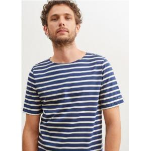 Saint James T-shirt LEVANT MODERN 9863 Size:l  MARINE/ECRU Realizzato in cotone 100% Manica corta