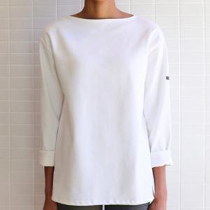 Saint James T-shirt GUILDO 2501 Size:T1  NEIGE Realizzato in cotone 100% Manica lunga