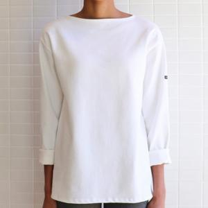 Saint James T-shirt GUILDO 2501 Size:T6  NEIGE Realizzato in cotone 100% Manica lunga