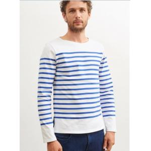 Saint James T-shirt NAVAL 2691 Size:m  NEIGE/GITANE Realizzato in cotone 100% Manica lunga