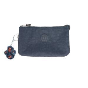 Kipling Portafogli Donna Basic Creativity L 13265 True Blue 511 Realizzato in tessuto Chiusura con lampo 3 scomparti Tasca porta monete chiusa con lampo