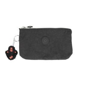 Kipling Portafogli Donna Basic Creativity L 13265 Black 900 Realizzato in tessuto Chiusura con lampo 3 scomparti Tasca porta monete chiusa con lampo